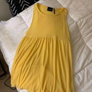 Bright Yellow Soft Orange High Neck Tank Top